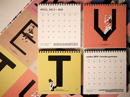 chicks & types calendar 2013