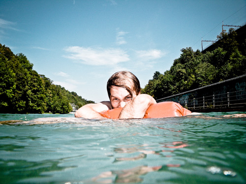 Christoph in the Aare