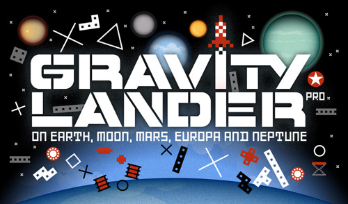 Gravity Lander Pro iPhone Game