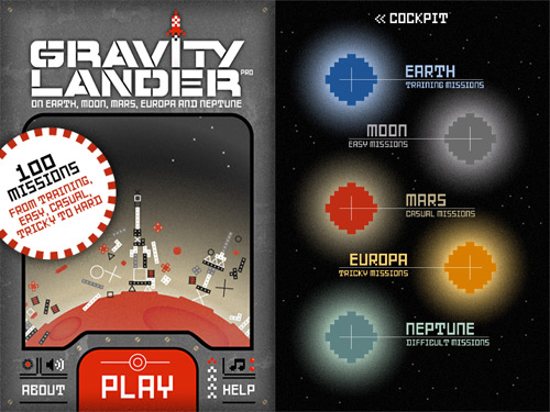 Gravity Lander Pro Screenshots