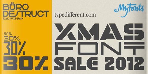 BD Typedifferent Fonts Sale on MyFonts