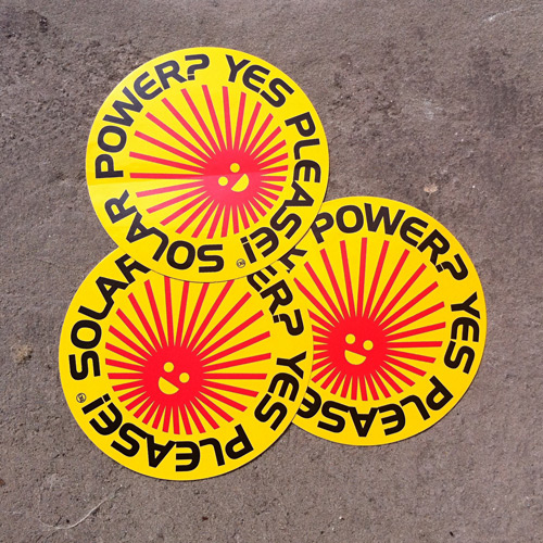 Solar Power? Yes Please! Stickers